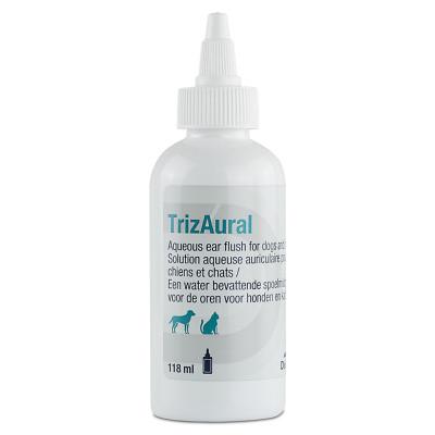 TrizAural kapi za antibakterijsko ispiranje ušiju kod pasa i mačaka 118 ml