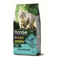 Monge Cat BWild Grain Free Adult Bakalar, Sočivo i Krompir 1,5 kg