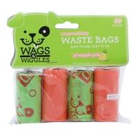 Wags&Wiggles kesice za izmet sa mirisom Ananasa 60 kom