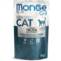 Monge Grill sos za sterilisane mačke Pastrmka 85 g
