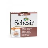 Schesir konzerva za mačke Tunjevina i Losos u prirodnom sosu 70g