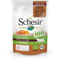 Schesir Bio Organic preliv za sterilisane mačke Piletina, Svinjetina, Bundeva  85g