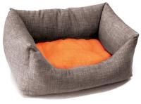 Ležaljka za pse Dual Narandzasto Siva